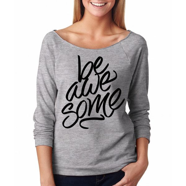 Be Awesome Stylish Ladies Raglan Raw Edges Ladies Top French Terry... ($25) ❤ liked on Polyvore featuring tops, t-shirts, green, women's clothing, holiday t shirts, green t shirt, t shirt, neon t shirts and jersey t shirt