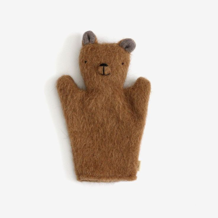 Each of these one-of-a-kind hand puppets is handcrafted in Montreal from upcycled wool sweaters and pure wool stuffing. Wonderful for cuddling and storytelling and puppet shows, these simple heirloom
