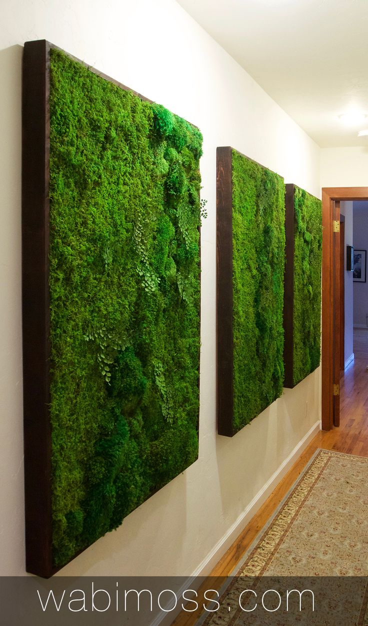 custom moss wall art