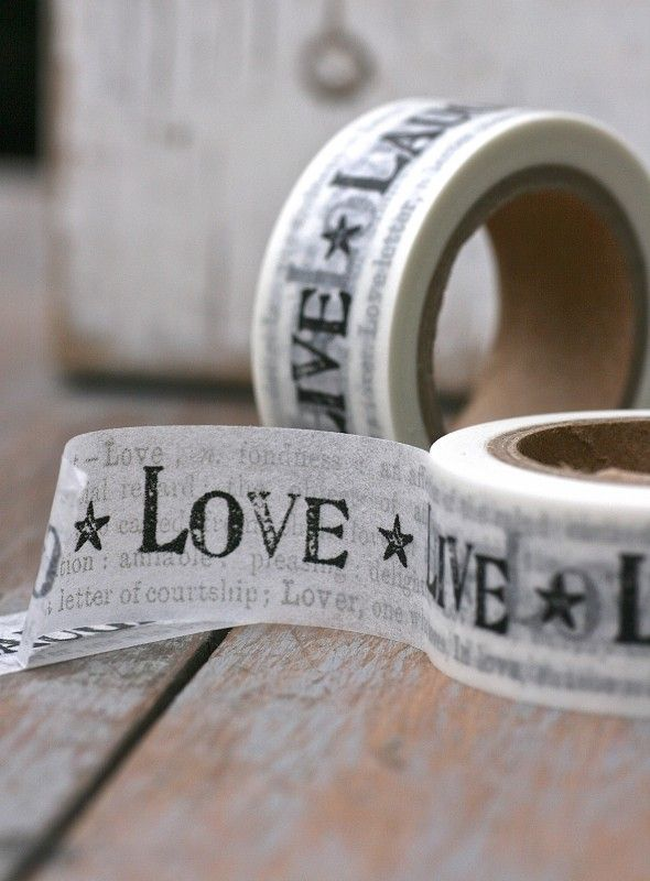 Masking tape With Love News Paper
