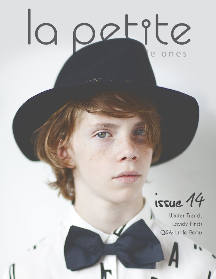 AMAZINGLY COOL! La Petite Magazine Digital Issue 14 Out Now! Front Cover: Rus Anson #editorial #kids #fashion
