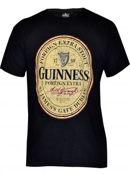 This Irish t-shirt is rich in history - Arthur Guinness started brewing ales from 1759 at the St. James's Gate Brewery, Dublin. On December 31, 1759. Celebrate the Guinness heritage by wearing our Guinness Distressed English Label T-Shirt. 100% cotton. Sizes M, L, XL and XXL.