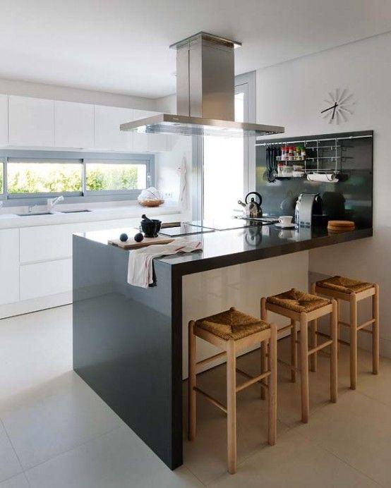 Decoration, Captivating Black Natural Backsplash Tile Ideas For Small  Kitchens Island Designs Plans Summer House