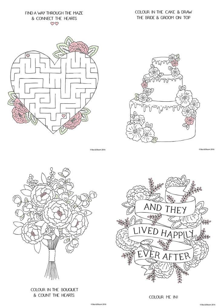 Free Download Printable Wedding Colouring Sheets For Kids Wedding Games For Kids Free Wedding Printables Wedding With Kids