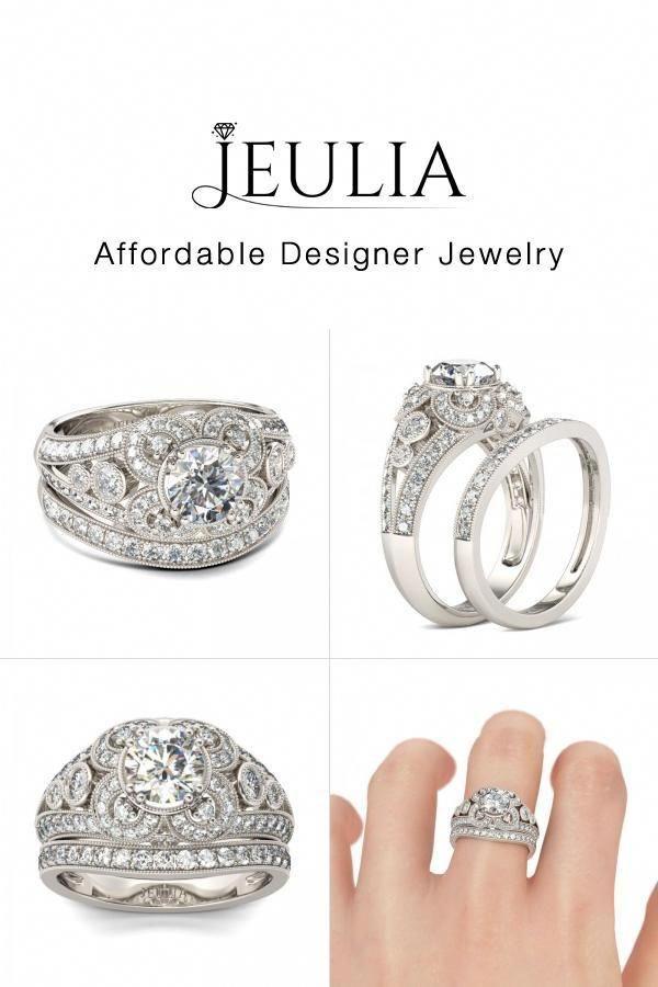 Aquamarine Engagement Ring White Gold Unique Engagement Ring
