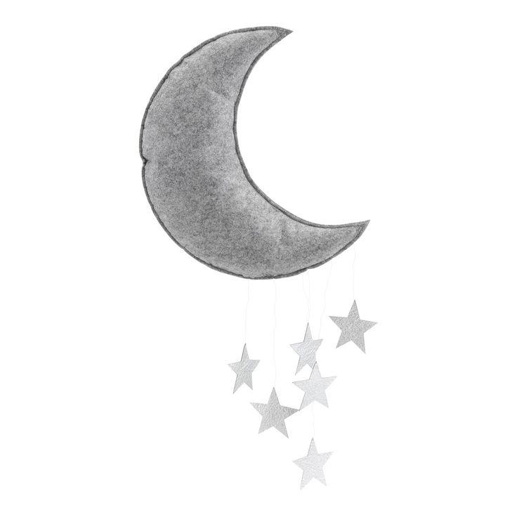 Konges Slojd- Moon Mobile Grey Melange Silver