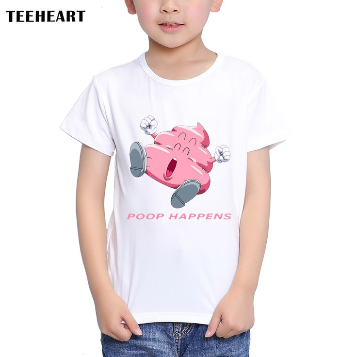 >> Click to Buy << TEEHEART Boys/girls's Modal T-shirt Funny Poop Happens Printed 18M-10T Summer Children Summer Emoji Clothing TA440 #Affiliate