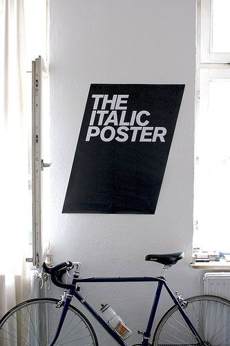 The Italic Poster: A Graphic Design Concept Poster.