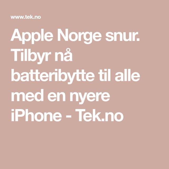 Apple Norge snur. Tilbyr nå batteribytte til alle med en nyere iPhone - Tek.no