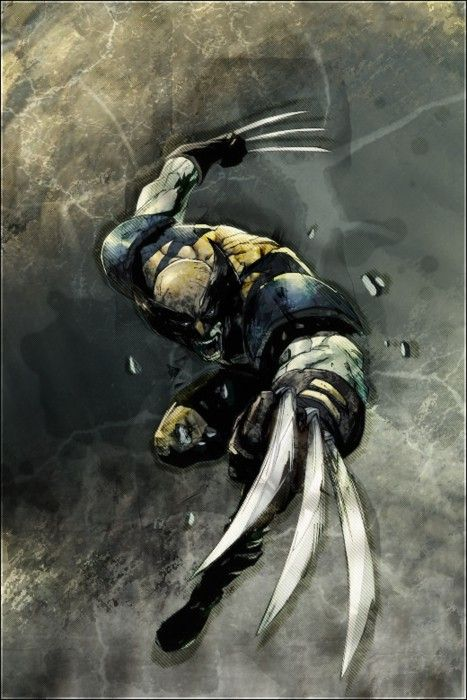 Artwork for cover of X-Men Unlimited #5. December, 2004. Art by Pat Lee. Wolverine.