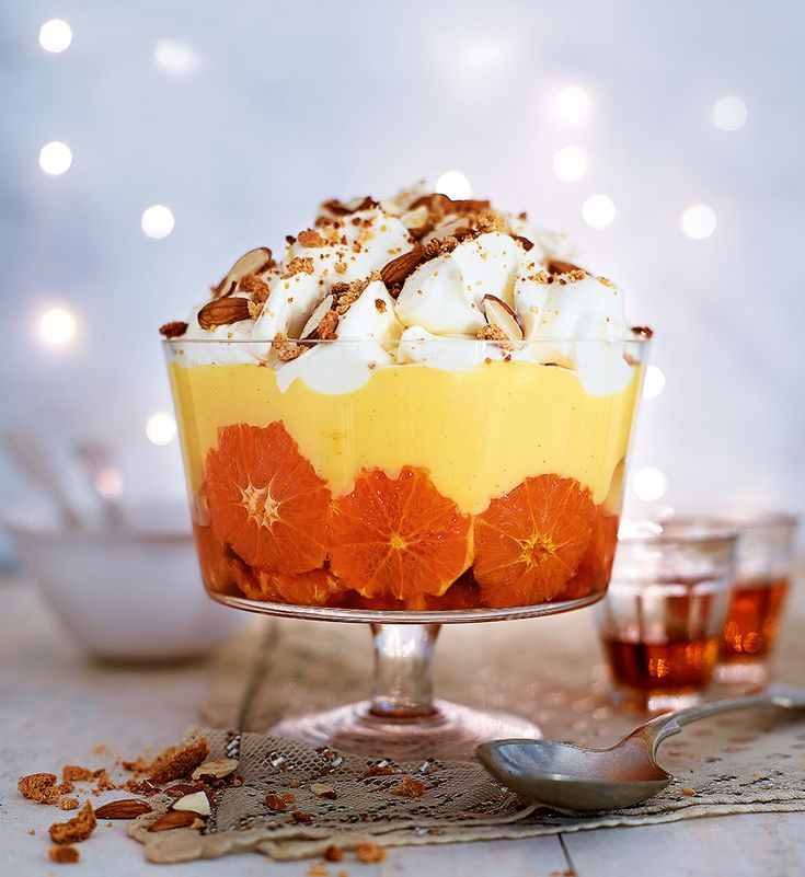 Not a soggy sponge or lumpy custard in sight, this trifle is a joy to eat, so add it to your Christmas repertoire and you'll have guests coming back for more.