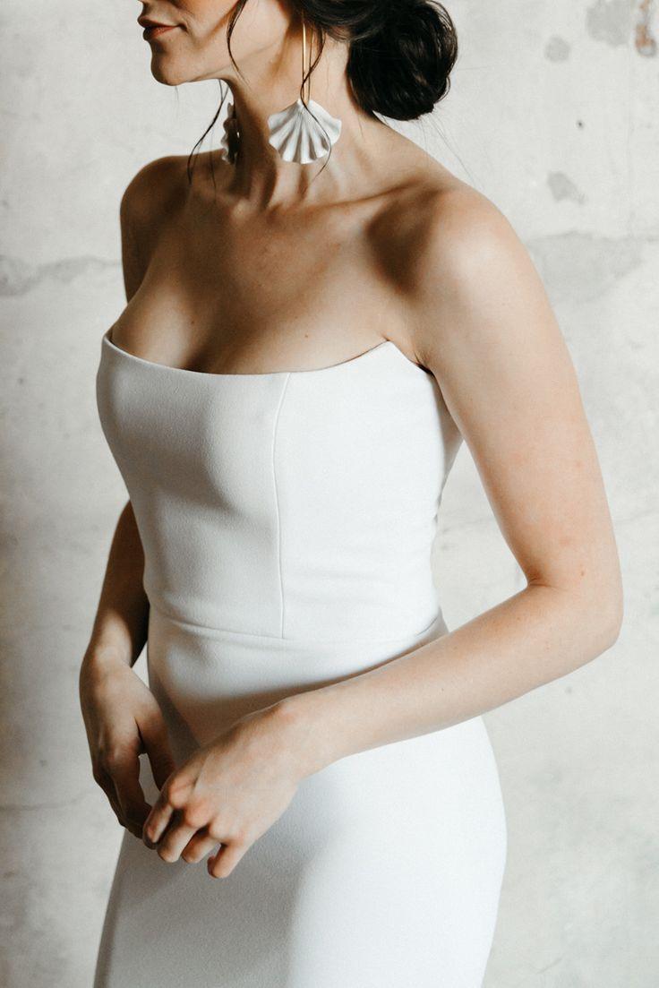 Alyssa Kristin Bridal Gowns Made With Love In Chicago Modern Wedding Dresses In 2020 Modern Bridal Gowns Wedding Dress Prices Crepe Wedding Dress