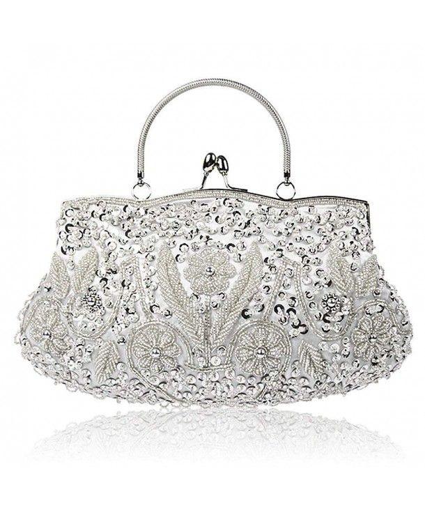 Ladies Designer Sequin Clutch Bag Women/'s Style Evening Prom Party Purse UK New
