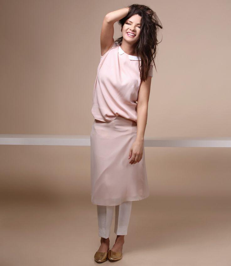 Easy like a summer day SUMMER 17   YOKKO #pink #white #veil #summer17 #casualoutfit #women #fashion #style #yokko