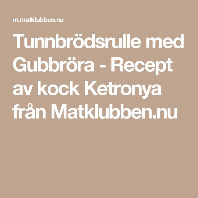 Tunnbrödsrulle med Gubbröra - Recept av kock Ketronya från Matklubben.nu