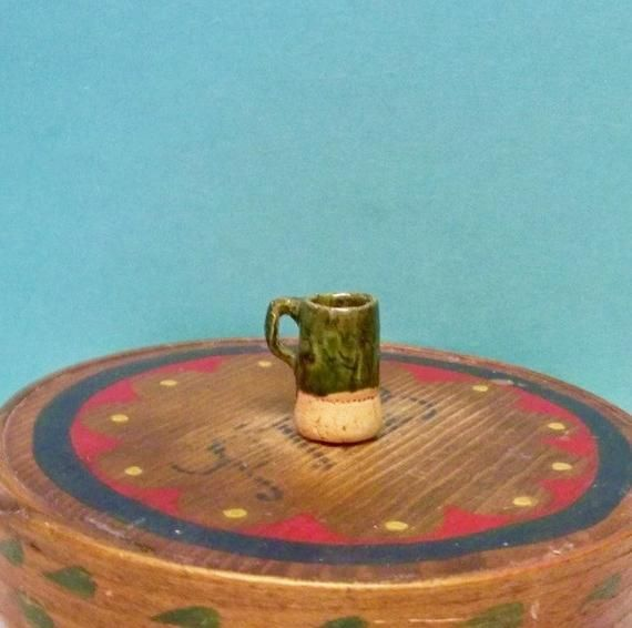 Miniature Dollhouse Hand-Painted Beer Stein