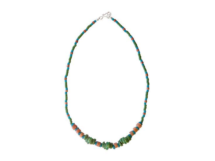 Kralen Ketting - Ghanese groene ketting met bauxiet kralen