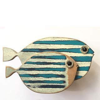 Fish fish woodwork paint wood – side by side designs © MadeByCBK #design
