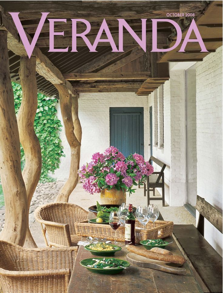 51 best home decor magazine images on pinterest color for Decoration veranda