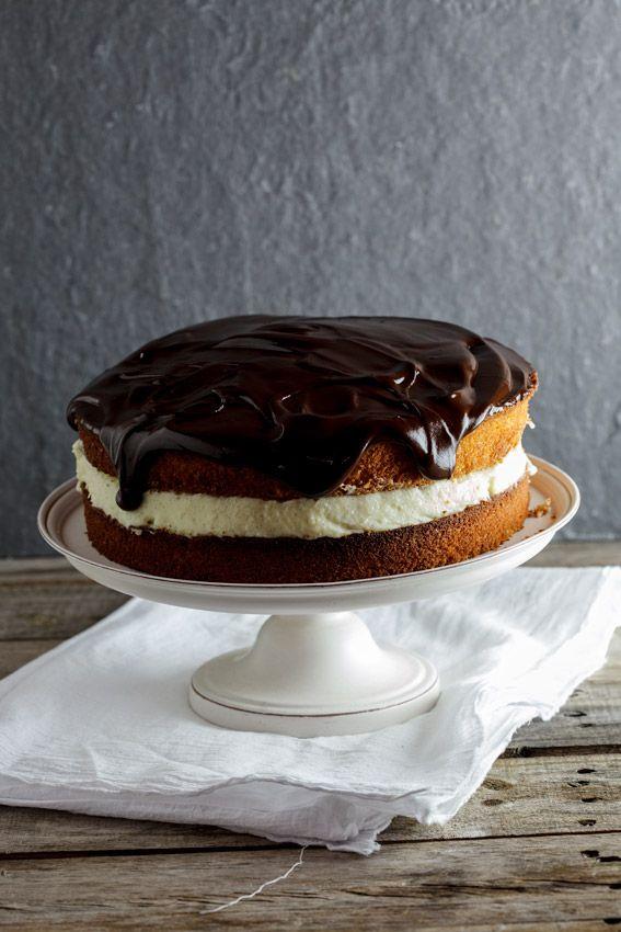 4himglory:  Coconut Boston Cream Pie| Simply Delicious