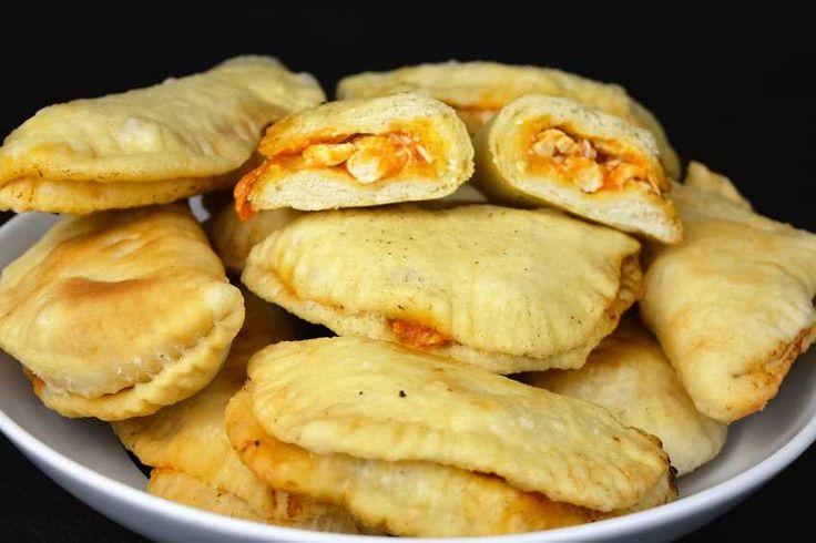 Estas son las prometidas empanadillas de pollo, las que dije que haría con la masa para empanadillas de hace unos días.