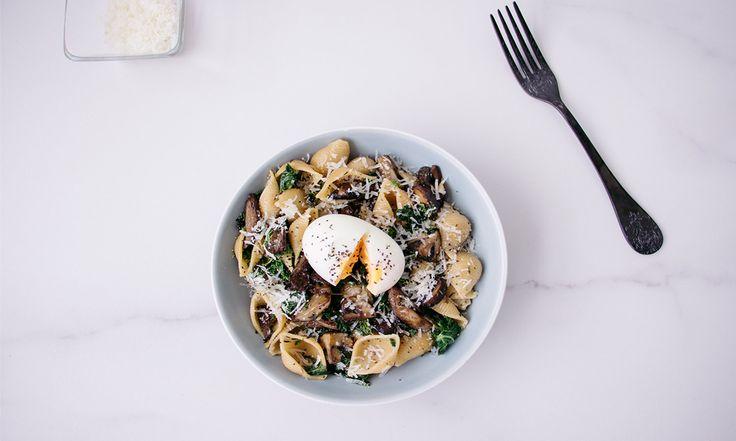 Pasta de Hongos Silvestres y Kale