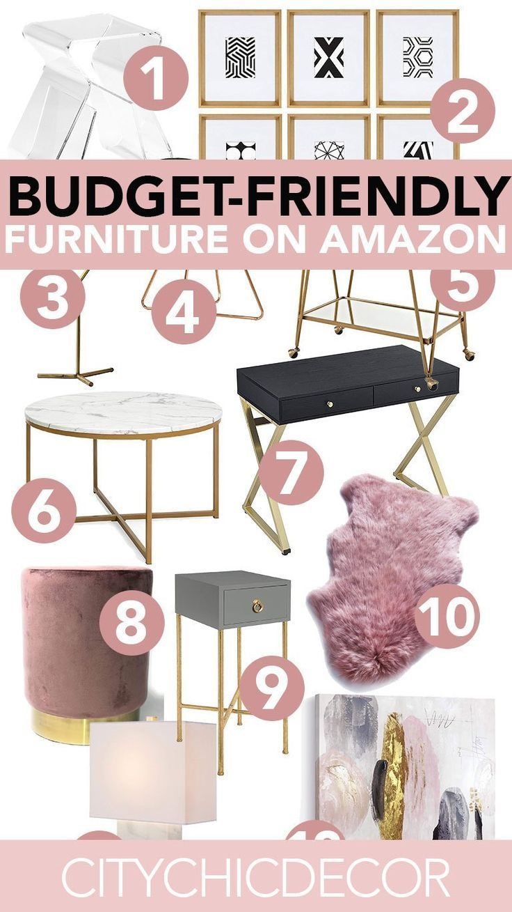 Super Affordable Furniture From Amazon City Chic Decor Glam Bedroom Decor Affordable Furniture Glam Bedroom