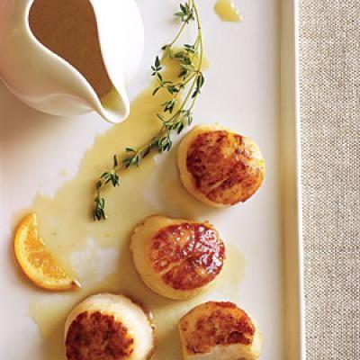 Seared Scallops with Meyer Lemon Beurre Blanc | CookingLight.com
