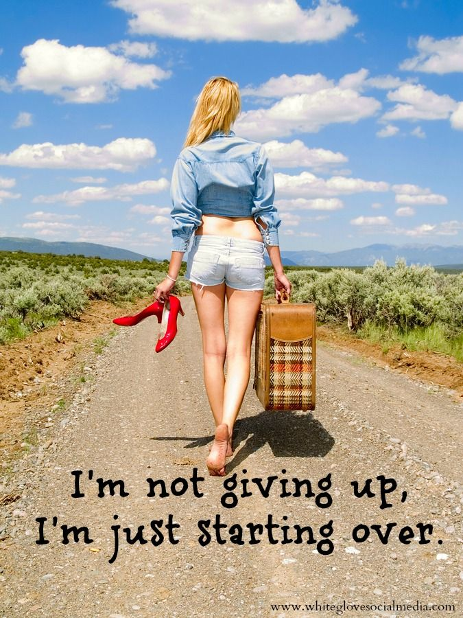 I'm not giving up, I'm just starting over. #quote✭Pinterest Consultant Vancouver✭