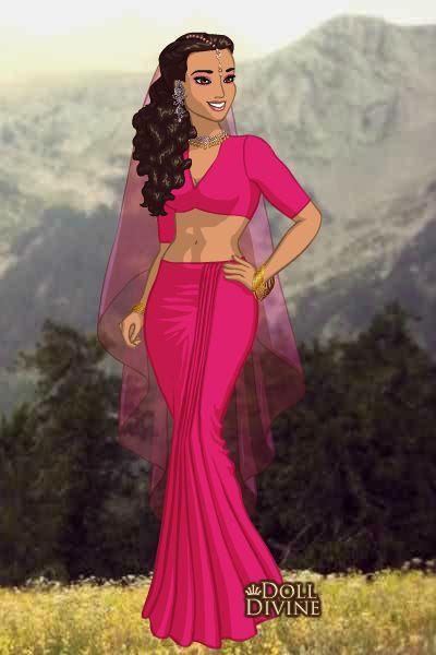 Juhi Chawla (Tu Mere Samne- Darr) ~ by Bollywoodlover ~ created using the Sari doll maker | DollDivine.com