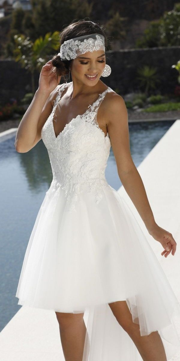 Pin On Short Tea Length Wedding Dresses