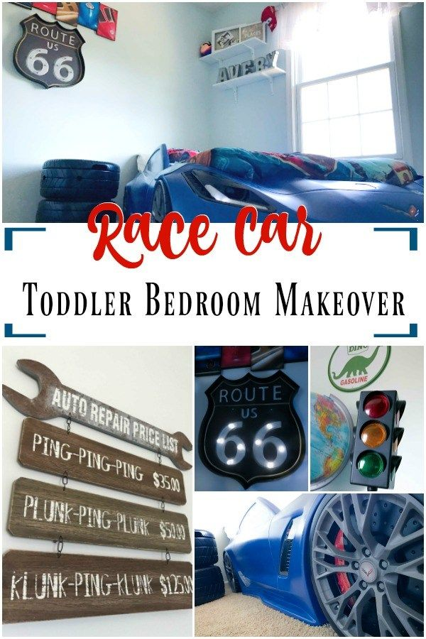Toddler Bedroom Makeover  The Ultimate Race Car Themed Room15 best Exotic Car Beds images on Pinterest   3 4 beds  Bed in and  . Race Car Themed Room Ideas. Home Design Ideas