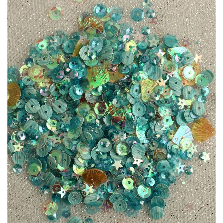 Buttons Galore 28 Lilac Lane Tin W/Sequins 40g-Seaside Holiday - seaside holiday