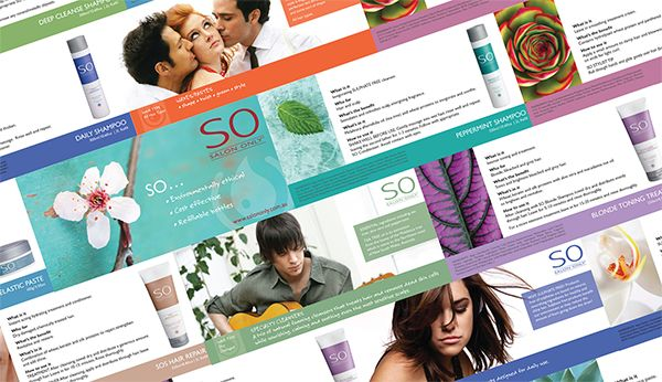 Salon Only Product Folder by Sofia da Silva, via Behance