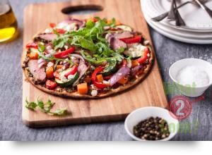 Lamb, Vegetable and Feta Pizzas with Rosemary & Italian Herbs