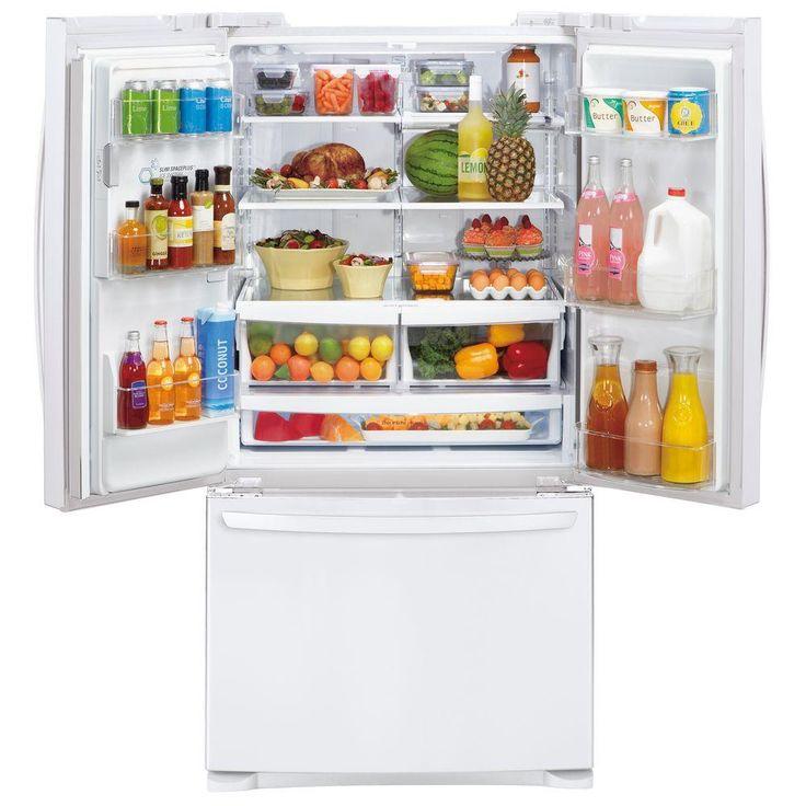 LG Electronics 26.8 Cu. Ft. 3 Door French Door Refrigerator In Smooth White