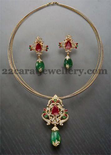 Simple Fancy Collar Choker | Jewellery Designs