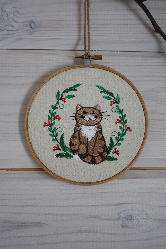 Embroidery#craft#for kids#cat