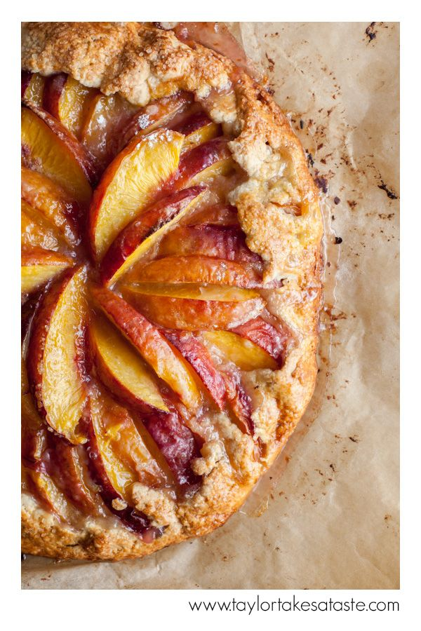 Nectarine Galette- a perfect dessert, this comes with a bottom layer of crust and little bit on sides.