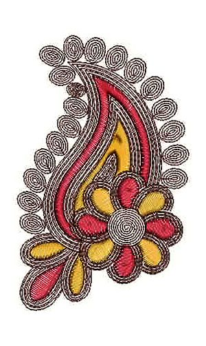 Paisley Pattern Applique Embroidery Design