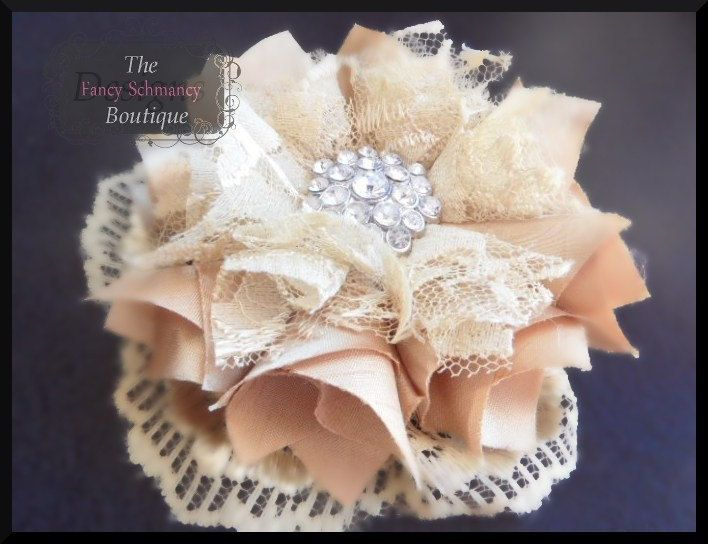 NO SEW Fabric Flower and Headband PDF Tutorial/ Pattern Pouting Princess/ Fancy Schmancy. $5.00, via Etsy.