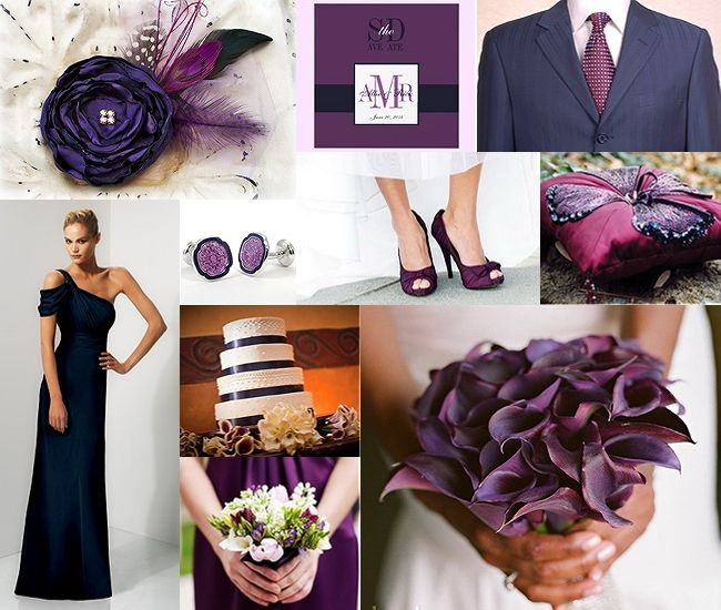 I Want A Plum And Navy Wedding With Accents Of Blush Do In 2018 Pinterest Colors