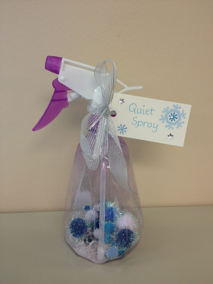 Another version of Quiet Spray includes pom poms, glitter and sequins!