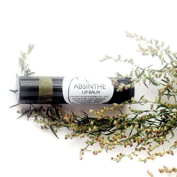Absinthe Lip Balm - in a black recycled-plastic tube. $6.00, via Etsy.