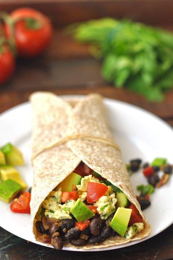 breakfast-burrito vegetarian | Yums in my Tums | Pinterest