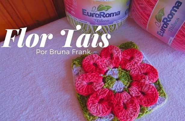 166 best 10. Blumen gehäkelt images on Pinterest | Stricken häkeln ...