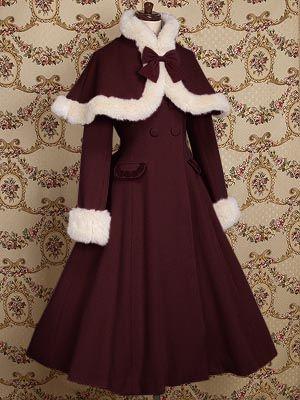 LOLITA洋装秋冬女装双排扣披肩羊毛呢绒大衣外套-淘宝网