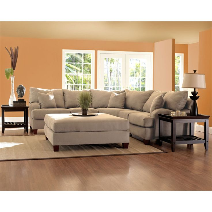 ART Furniture Harper Ivory Sofa Beige SectionalSectional Living RoomsLiving