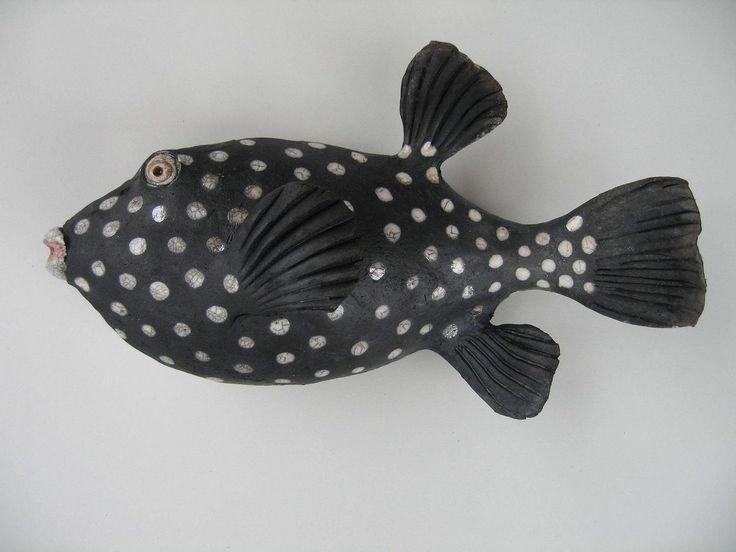 10 best images about raku animals on pinterest copper for Ceramic fish sculpture