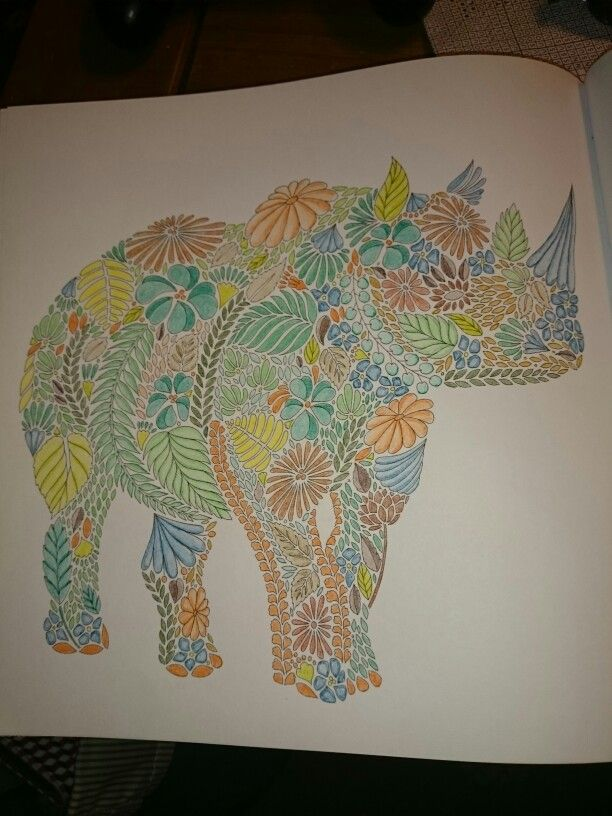 Millie Marotta Animal Kingdom Rhinoceros Coloring BooksColouringRhinocerosAnimal KingdomElephant